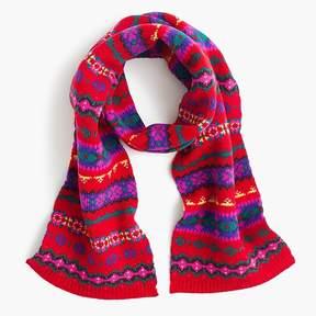 J.Crew Girls' Fair Isle scarf