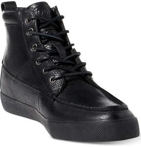 Polo Ralph Lauren Men's Tavis Leather High-Top Sneakers Men's Shoes