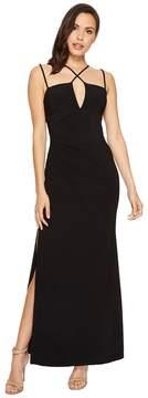 Laundry by Shelli Segal Jersey Crisscross Front Gown Women's Dress