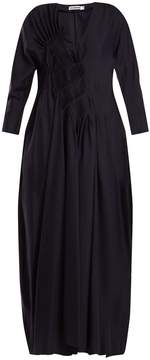 Jil Sander V-neck silk dress