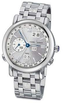 Ulysse Nardin GMT Perpetual Silver Dial 18kt White Gold Automatic Men's Watch