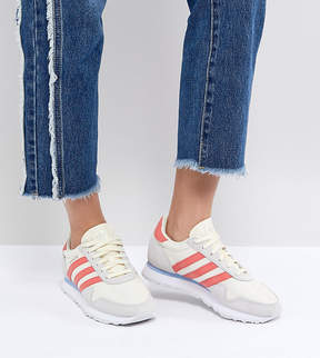 adidas Haven Sneakers In Off White And Red