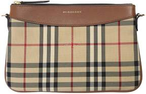 Burberry Leather And Nylon Horseferry Bag - BEIGE - STYLE