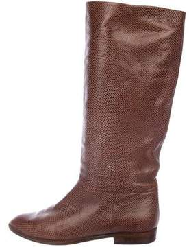 Bruno Magli Embossed Mid-Calf Boots