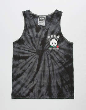 Riot Society Panda Rose Mens Tank Top