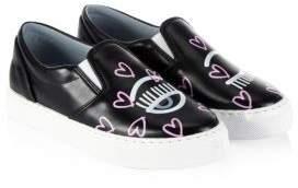Chiara Ferragni Leather Slip-On Sneakers