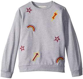 Stella McCartney Betty Sweatshirt w/ Rainbow and Arrow Patches Girl's Sweatshirt