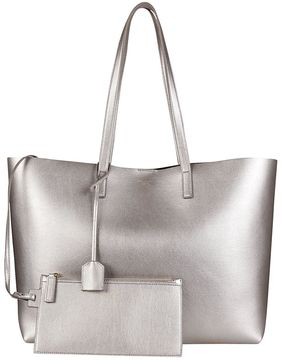 Saint Laurent Classic Shopping Tote - ARGENTO - STYLE