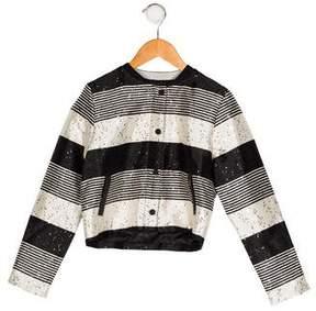 Karl Lagerfeld Girls' Embellished Lightweight Jacket