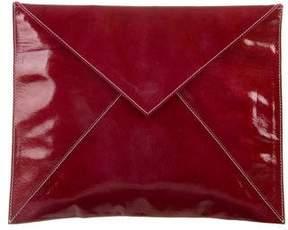 Zac Posen Patent Leather Envelope Clutch