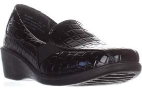 Easy Street Shoes Dolores Comfort Flat Shoes, Black Croc.