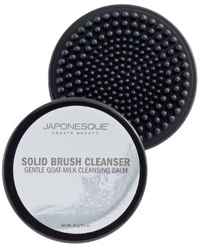 Japonesque Mini Gentle Goat Milk Cleansing Balm Solid Brush Cleanser