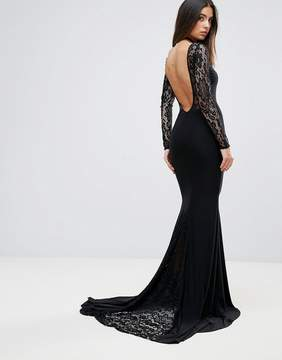 Club L Maxi Dress With Lace Panel Detail
