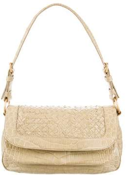 Bottega Veneta Crocodile Intrecciato Shoulder Bag
