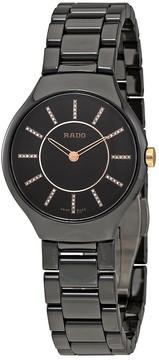 Rado True Black Dial Ladies Ceramic Watch