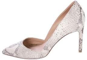 Diane von Furstenberg Snakeskin Pointed-Toe Pumps