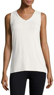 Context Lace-Trimmed Tank Top