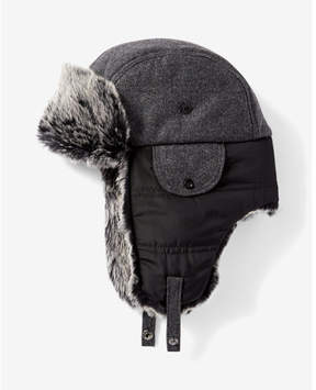 Express faux fur trapper hat