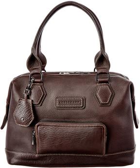 Longchamp Legende Leather Shoulder Bag - BLACK - STYLE