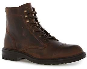 Topman Tan Leather Toecap Boots