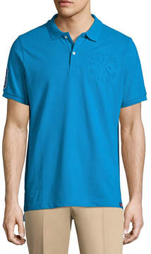 U.S. Polo Assn. USPA Embellished Short Sleeve Pique Polo Shirt