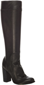 Max Studio Relish - Pebble Grain Leather Stack Heel Tall Boots