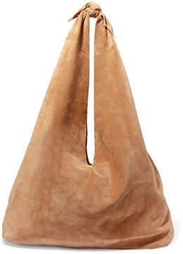 The Row Bindle Suede Shoulder Bag - Beige