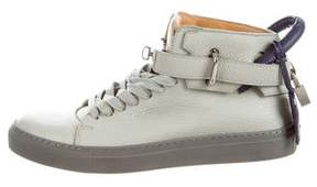 Buscemi 100MM Grain Leather Sneakers