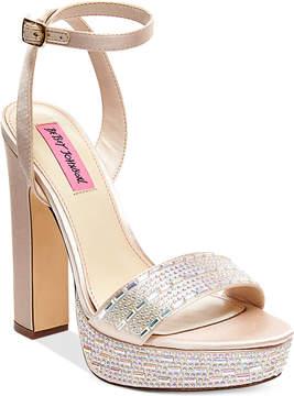 Betsey Johnson Alliie Platform Evening Sandals Women's Shoes