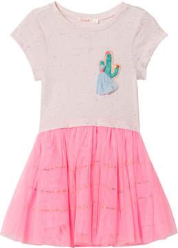 Billieblush Pink Cactus Applique Tutu Dress