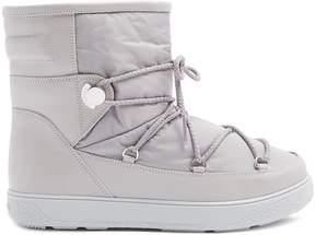 Moncler New Fanny nylon and leather aprés-ski boots