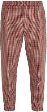 Barena VENEZIA Tapered-leg gingham trousers
