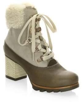 Sorel Jayne Lux Shearling Heeled Booties