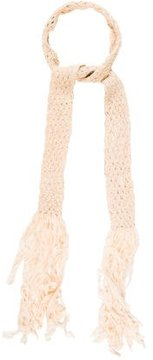 RED Valentino Fringe-Trimmed Skinny Scarf w/ Tags