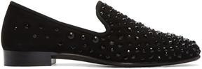 Giuseppe Zanotti Black Studded Kevin Loafers