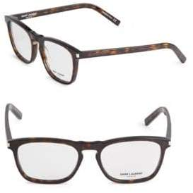Saint Laurent 53MM Tortoise Square Opticals
