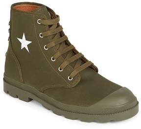 Givenchy Men's Canvas Star Combat Boots