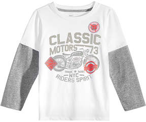 Epic Threads Little Boys Graphic-Print Faux-Layer Long-Sleeve T-Shirt, Created for Macy's