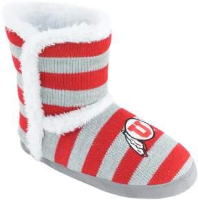 NCAA Women's Utah Utes Striped Boot Slippers