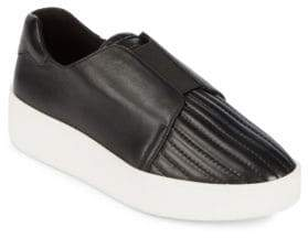 Donna Karan Park Leather Slip-On Sneakers