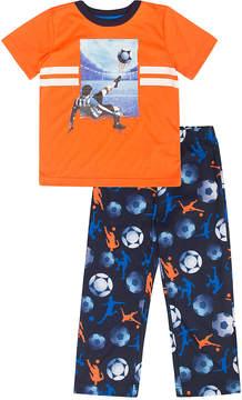 Petit Lem Orange Soccer Pajama Set - Boys