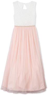 Speechless Toddler Girls Glitter Lace Maxi Dress