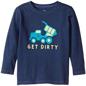 Life is Good Get Dirty Truck Long Sleeve Crusher Tee Boy's T Shirt