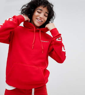 Converse Star Chevron Graphic Pullover Hoodie In Red
