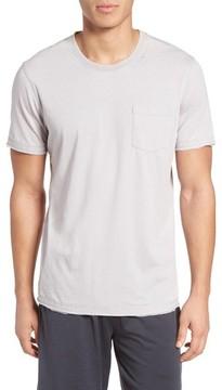 Daniel Buchler Men's Burnout Cotton Blend Crewneck T-Shirt