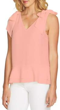 Cynthia Steffe CeCe by Tie Shoulder Layered Blouse