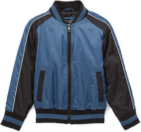 Urban Republic Teal & Black Eagle Embroidered Bomber Jacket - Boys