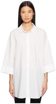 Escada Sport Neighty Button Up 3/4 Sleeve Top Women's Clothing