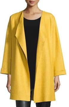 Caroline Rose Lana Fantasia Topper Coat, Sunset Gold, Petite