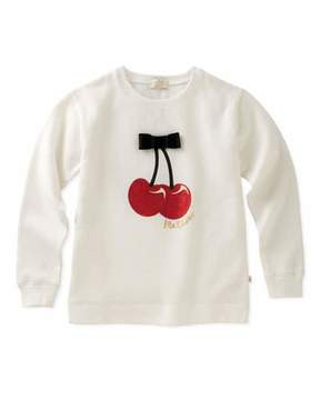 Kate Spade Cherries Sweatshirt With Bow, Size 7-14